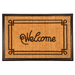 Entryways Recycled Rubber and Coir 24 x 36 Inch Large Welcome Doormat