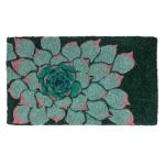 Entryways Handwoven Coconut Fiber 18 x 30 Inch Succulent Doormat