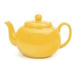 RSVP Yellow Stoneware 48 Ounce Teapot