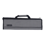 Messermeister Black and White Houndstooth Padded 8 Pocket Knife Roll