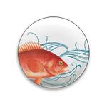 Caskata Studio Pink Fish 6 Inch Appetizer Plate, Set of 4