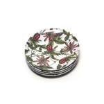 Caskata Studio Pink Passion 6 Inch Appetizer Plate, Set of 4