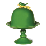 Boston International Emerald Green Ceramic 9 Inch Bird Cloche