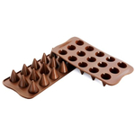 Silikomart Easy Choc Brown Silicone Cone Chocolate Mold