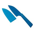 Kuhn Rikon Colori+ Blue 5 Inch Krinkle Knife