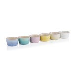 Le Creuset Sorbet Collection Stoneware 3.4 Ounce Mini Ramekin, Set of 6