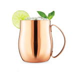 Final Touch Copper Plated Stainless Steel 16 Ounce Double-Wall Moscow Mule Mug