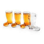 Final Touch Glass 1.5 Ounce Das Boot Shot Glass, Set of 4