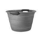 Final Touch Grey Silicone 12.7 Quart Collapsible Beverage Bin