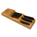 Totally Bamboo Bamboo In-Drawer Knife Block