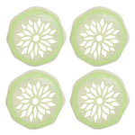 Blossom uCap Green Silicone 4 Inch Flower Frog Wide Mouth Mason Jar Lid, Set of 4