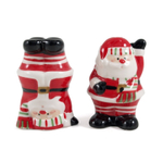 Boston Warehouse Santa Claus Earthenware Salt and Pepper Shakers, Set of 2