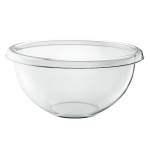 Guzzini Happy Hour Transparent 7.4 Quart XL Season Salad Bowl
