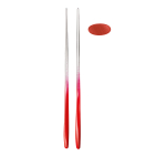 Guzzini My Fusion Red 10 Inch Chopsticks and Rest, Set of 2