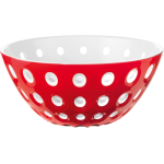 Guzzini Le Murrine Red and White 9.8 Inch Bowl