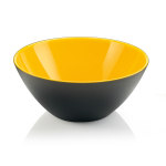 Guzzini My Fusion Yellow and Black 1.2 Quart Bowl