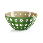 Guzzini Le Murrine Moss Green and Sand 9.8 Inch Bowl