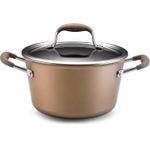 Anolon Advanced Bronze Hard Anodized Nonstick Tapered Stockpot, 4.5 Quart