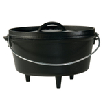 Lodge Cast Iron 5 Quart Deep Camp Dutch Oven