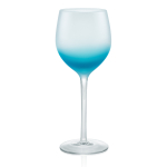 Artland Frost Shadow Turquoise Glass 17 Ounce Goblet