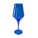 Artland Luster Blue Glass 16 Ounce Goblet