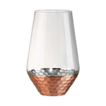 Artland Coppertino Hammer Copper 17 Ounce Highball Glass