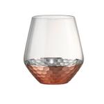 Artland Coppertino Hammer Copper 15 Ounce DOF Glass