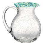 Artland Mingle Cool Blue Rim Glass 2.5 Quart Pitcher