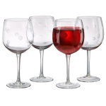 Artland Polka Dot 20 Ounce Balloon Wine Glass, Set of 4