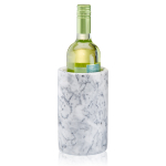 Artland White and Gray Marble 4.5 x 7 Inch Wine Cooler