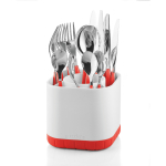 Guzzini Kitchen Red Fill and Drain Cutlery Drainer