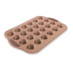 Nordic Ware Copper Colored Steel 24 Cup Mini Muffin Pan