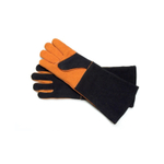 Steven Raichlen Best of Barbecue Grey and Orange Suede Extra-Long Gloves