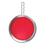 Tovolo Red Silicone and 18/10 Stainless Steel Splatter Screen with Fixed Handle