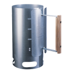 Lodge Galvanized Steel Charcoal Chimney Starter with Wood Handle