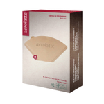 Aerolatte Number 4 Size Unbleached Coffee Filter Paper, Pack of 80