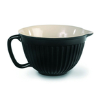 Omniware Simsbury Collection Black Glazed Stoneware 2 Quart Batter Bowl
