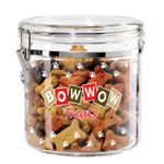 Oggi Acrylic Bow Wow 1.17 Gallon Dog Treat Jar