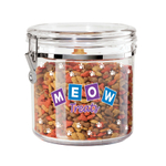 Oggi Acrylic Meow 1.17 Gallon Cat Treat Jar