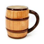ManCave Ceramic 20 Ounce Barrel Mug