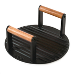Norpro Pre-Seasoned Cast Iron 8.75 Inch Grill Top/Bacon Press