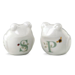 Lenox Butterfly Meadow Figural Frog 2.5 Inch Salt and Pepper Shaker Set