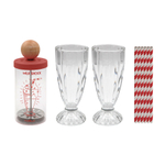 Cookut Milk Shock Glass 20 Ounce Milkshake Maker and 12 Ounce Glass Set