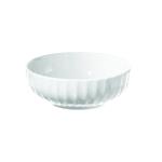 La Porcellana Bianca White Porcelain 4.8 Quart Ribbed Bowl