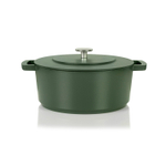 Combekk Railway Green Enameled Cast Iron 6.3 Quart Dutch Oven