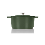 Combekk Railway Green Enameled Cast Iron 4.2 Quart Dutch Oven