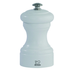 Peugeot Bistro Matte White Wood 4 Inch Salt Mill