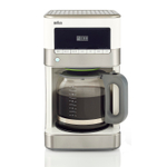 Braun BrewSense Stainless Steel and White 12 Cup Drip Coffee Maker