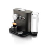 DeLonghi Nespresso Expert Anthracite Grey Aluminum Espresso Machine with Aeroccino