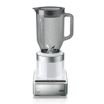 Braun PureMix Stainless Steel and White 1.75 Quart Countertop Blender